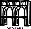 aqueduct in Italy Vector Clipart illustration