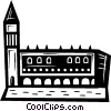 Vector Clipart picture  of a building in Italy