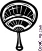 Japanese hand fan Vector Clipart graphic