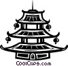 Vector Clip Art picture  of a temple