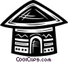 huts Vector Clip Art graphic
