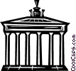 Vector Clipart image  of a Brandenburg gate