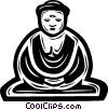 Vector Clipart graphic  of a Buddhist Monk