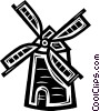 Dutch Windmill Vector Clipart graphic