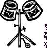Vector Clipart illustration  of a drums