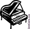 Vector Clip Art image  of a pianos