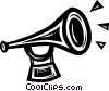 Vector Clipart graphic  of a bugle