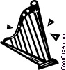 harp Vector Clipart graphic