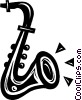 Vector Clip Art picture  of a saxophone
