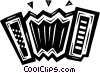 accordion Vector Clipart illustration