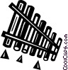Vector Clip Art image  of a panpipes