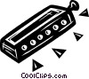 Vector Clipart picture  of a Mouth Organs and Harmonicas