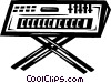 Vector Clipart graphic  of a synthesizers