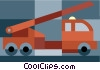 Fire truck Vector Clip Art graphic