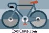 Vector Clipart image  of a Ten speed bike