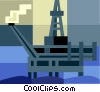 Off shore oil platform Vector Clip Art picture