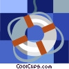 Vector Clipart picture  of a life preserver