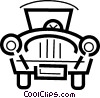 Vector Clip Art graphic  of an Antique or Vintage Automobiles