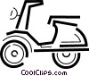Vector Clip Art image  of a Scooters