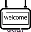 welcome signs Vector Clip Art graphic