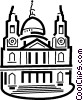 Vector Clip Art graphic  of a Traditional Church