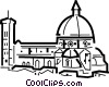 Vector Clipart graphic  of a Traditional Church