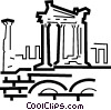 ancient structures Vector Clip Art picture