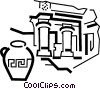 Vector Clip Art graphic  of a Greece