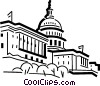 Vector Clipart illustration  of a Capitol building