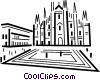 Vector Clipart graphic  of a Churches