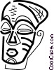 Vector Clip Art image  of an African Masks