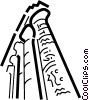Vector Clip Art image  of a Column or Pedestal