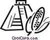 Vector Clip Art graphic  of a Incan Pyramids