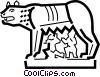 Romulus and Remus Vector Clipart illustration