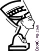 Vector Clip Art graphic  of a Nefertiti