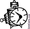 Vector Clipart picture  of an Alarm Clocks