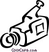 video camera Vector Clipart graphic