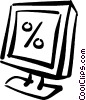 Vector Clipart graphic  of a monitor