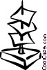 Vector Clipart illustration  of a messages on a message holder