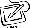 graphics tablet Vector Clipart picture