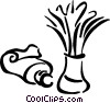Vector Clip Art image  of a shaving cream