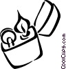 Vector Clip Art image  of a lighter