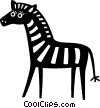 Vector Clipart image  of a zebras