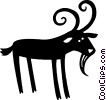 goat Vector Clipart illustration