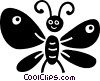 Vector Clip Art image  of a butterfly