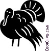 Vector Clip Art image  of a turkey