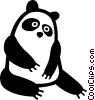panda bear Vector Clip Art graphic