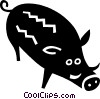 Vector Clipart image  of a boar