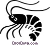 Vector Clipart picture  of a shrimp