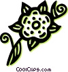 Vector Clip Art image  of a decorative floral elements
